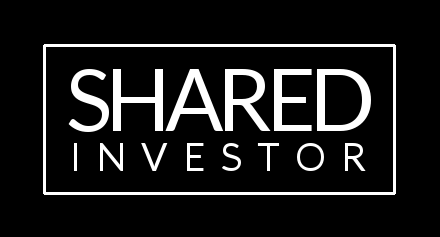 Shared Investor logo - white on black
